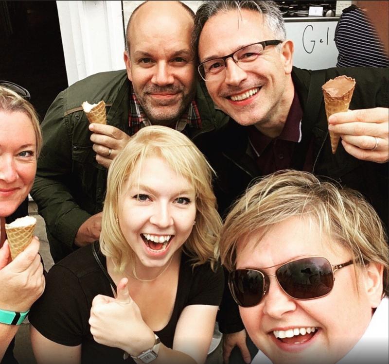 Cambridge Food Tour selfie