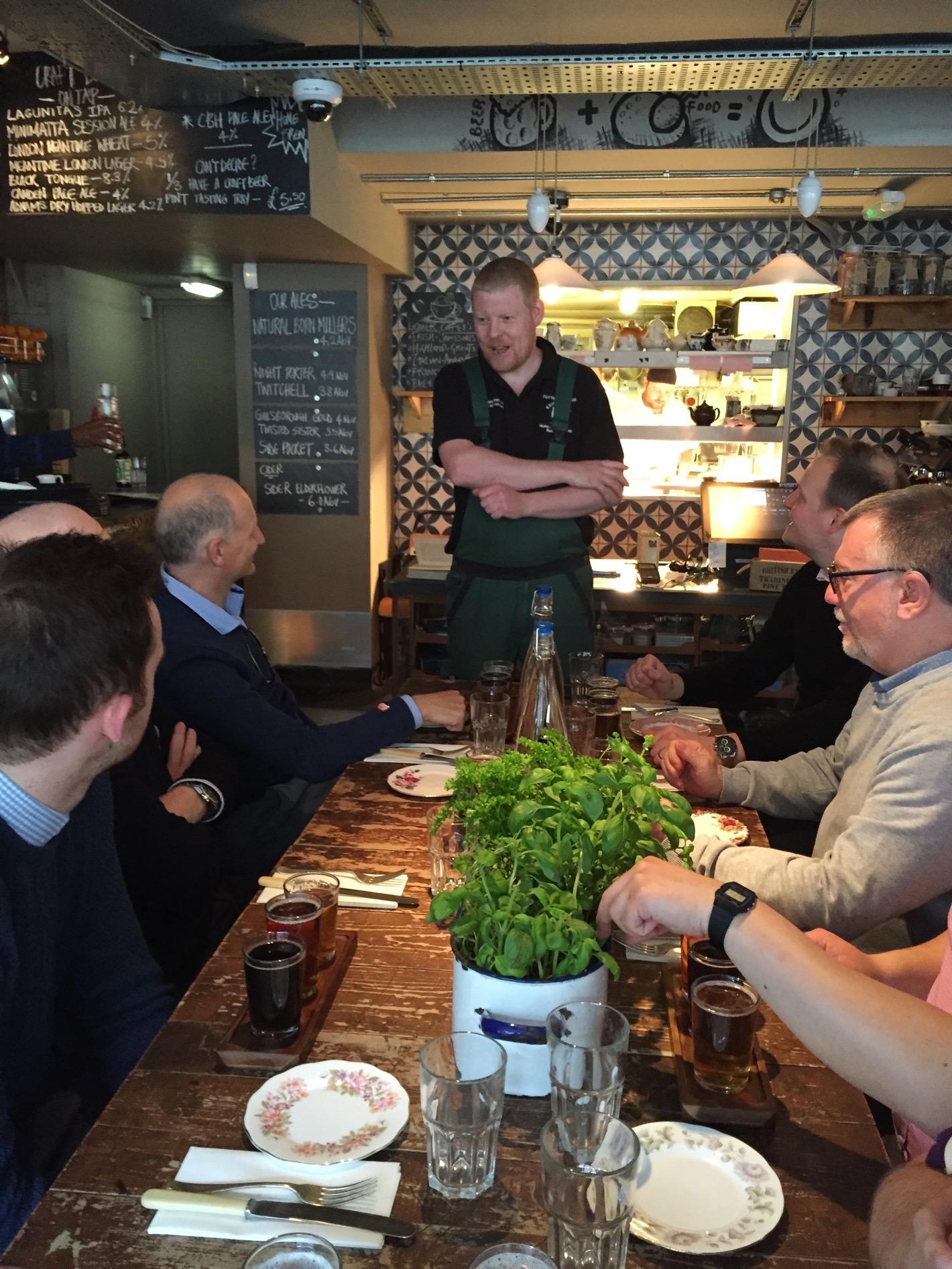 cambridge food tour brewer