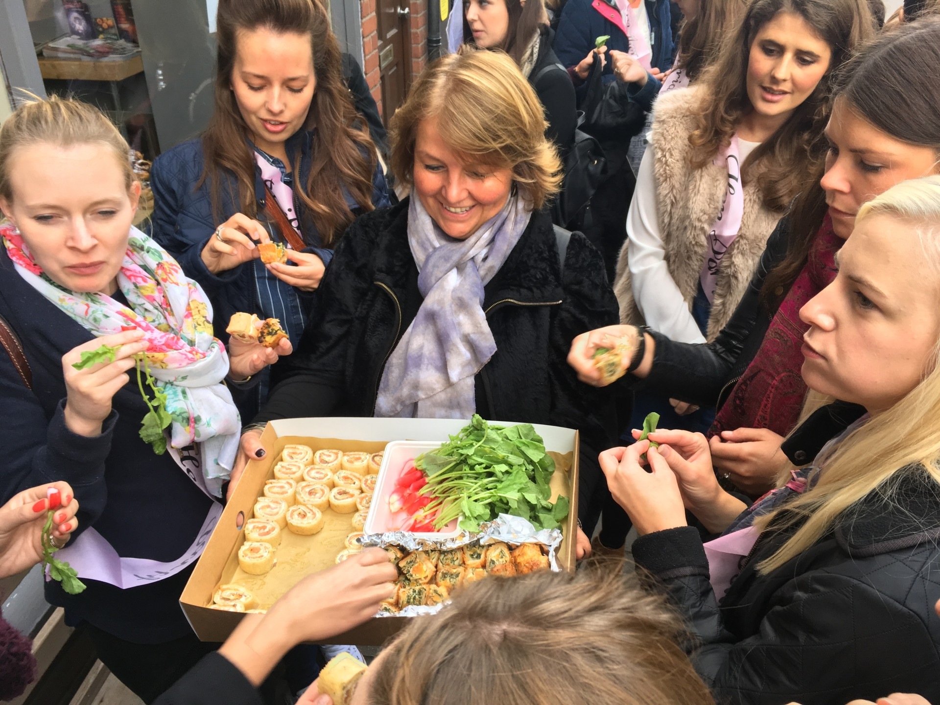 Cambridge food tour en tour