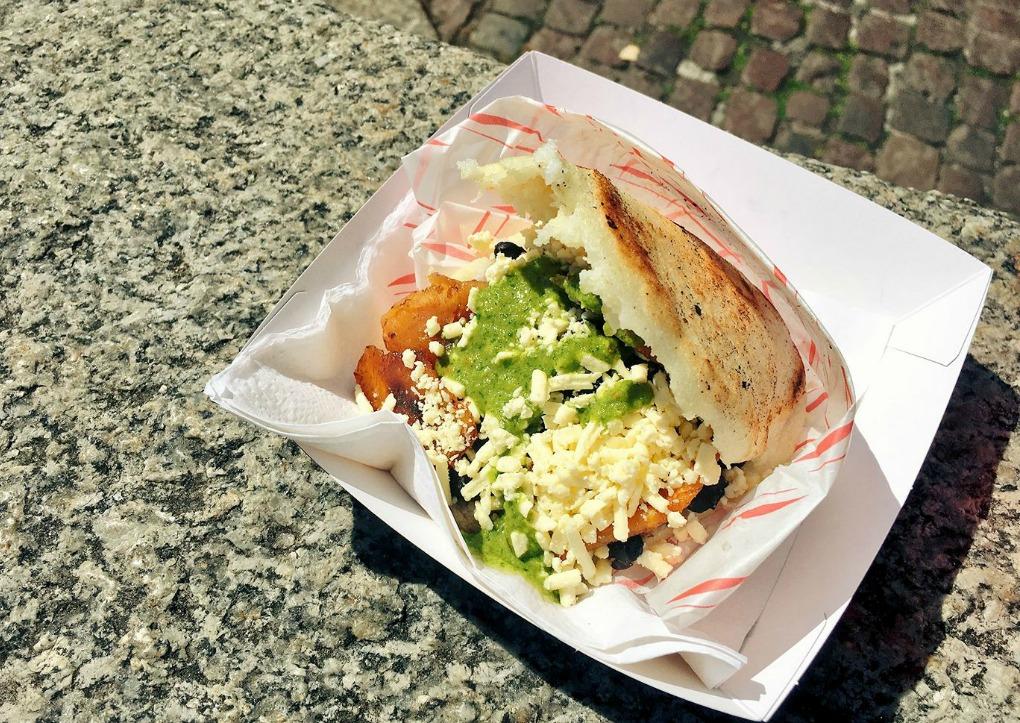 cambridge food tour cheap eats arepa's station.jpeg