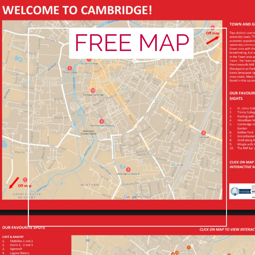 FREE MAP CAMBRIDGE FOOD TOUR