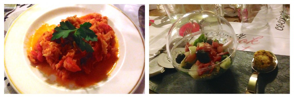 Ajoarriero ( salted cod with tomato and red Peppers + Aragonesa Salad